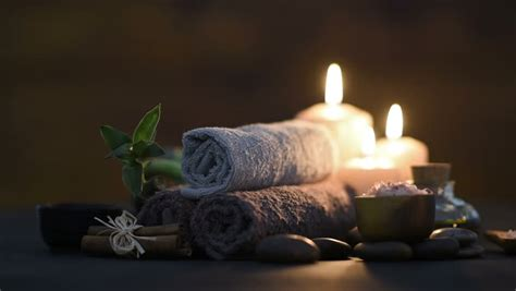 brown towels  bamboo  stock footage video