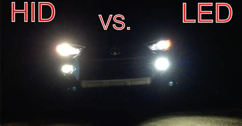 hid lights vs led lights led vs hid xenon vs halogen headlights compared autos post