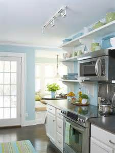 Blue Kitchen Decor Ideas Before And After Cottage Kitchen Open Shelving Nooks