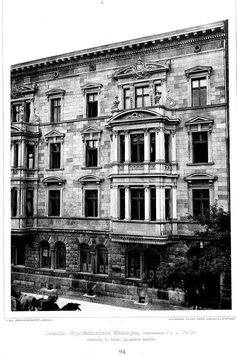 berlin architekt file deutsche hypothekenbank meiningen behrenstrasse 3
