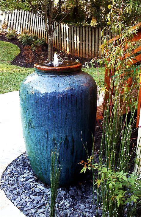 olive shape jar  great fountain   backyard