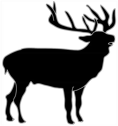 animal silhouette clip wildlife clipart deer silhouette pencil and in color