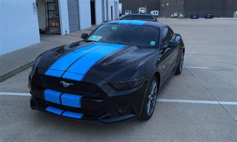 stripes on mustang grabber blue stripes on 2015 ford mustang gt fastback are
