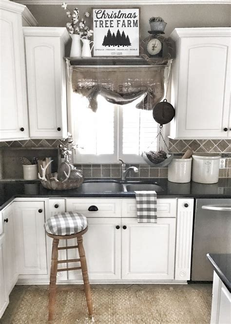 farmhouse style kitchen cabinets farmhouse kitchen christmas decor ig bless this nest