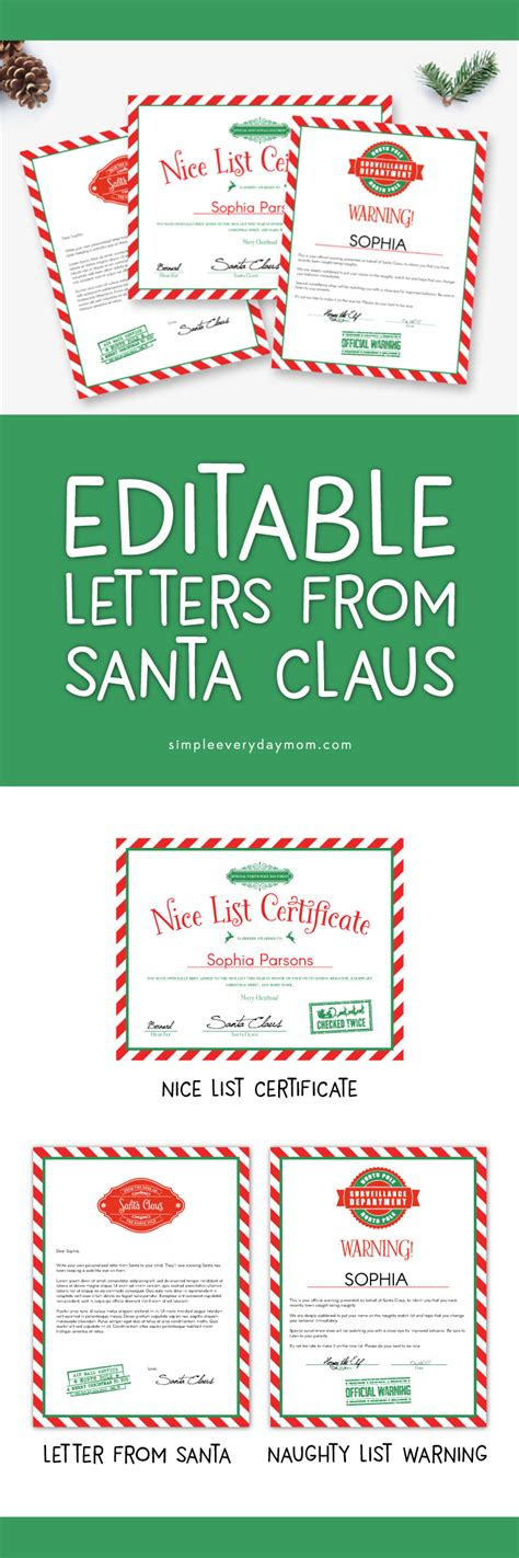 free printable letters santa naughty list use these editable letters from santa for a magical christmas