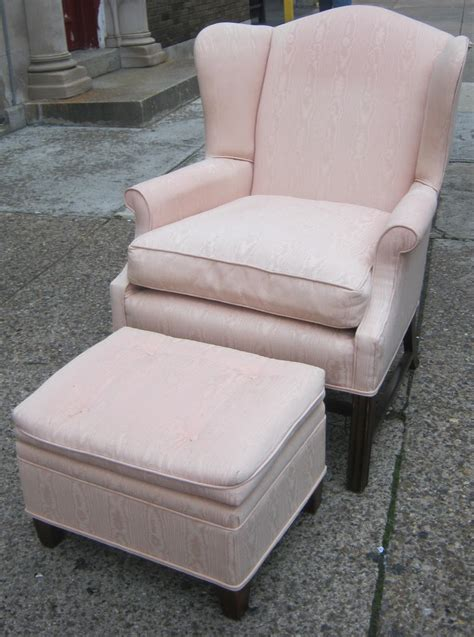 Pale Pink Chair by Uhuru Furniture Collectibles Pale Pink Wingback Chair