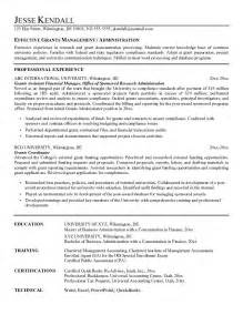 free grants manager resume example
