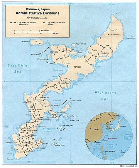 okinawa map japan maps perry casta 241 eda map collection ut library