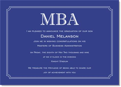 Mba Graduation Invitations by Blue Bookplate Frame Graduation Invitations By Ib