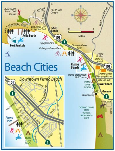 map of california beaches skydive pismo grover ca california beaches
