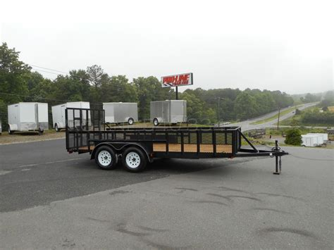 be my trailer 7x16 landscaping utility trailer 2 foot sides pro line