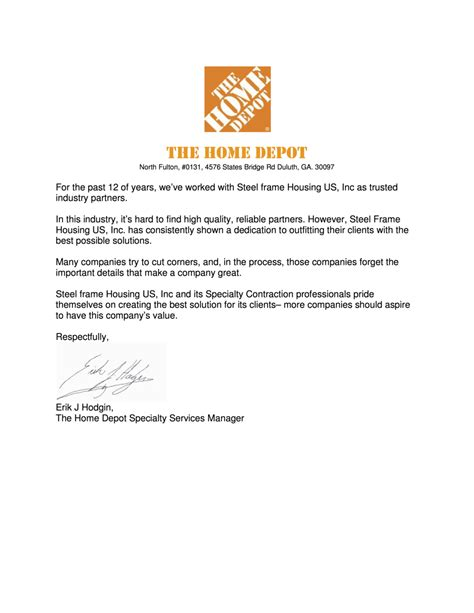 home depot letters home depot letters how to format cover letter