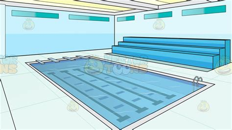 swimming pool size indoor olympic size swimming pool background cartoon