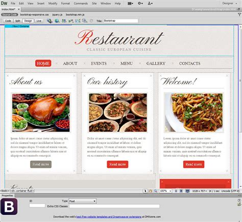 layout view dreamweaver dmxzone bootstrap extensions dmxzone com
