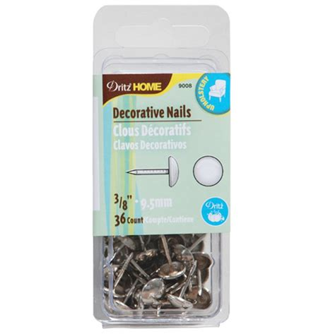 home decorative nails decorative nails 3 8 in silver