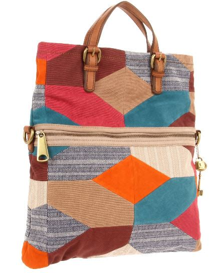Fossil Patchwork - fossil explorer patchwork tote zb5273 for best