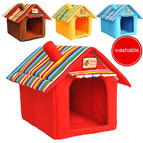 small dog indoor house four seasons washable samll pet bed dog cat tent house kennels for small dog soft