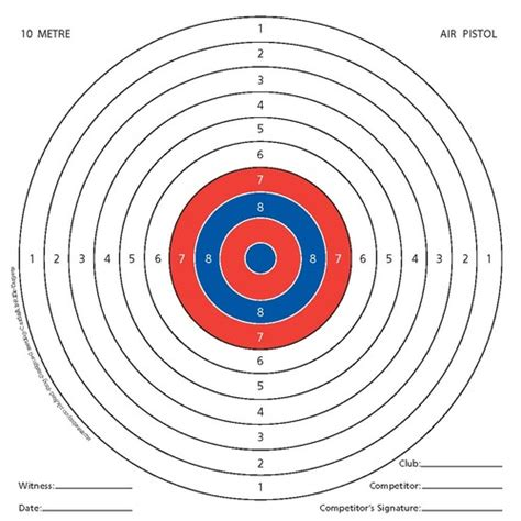 printable targets a3 100 x air rifle shooting targets airsoft pistol gun 14cm