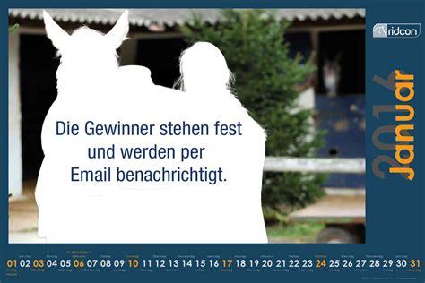 Ridcon Kalender Die Gewinner Wurden Benachrichtigt
