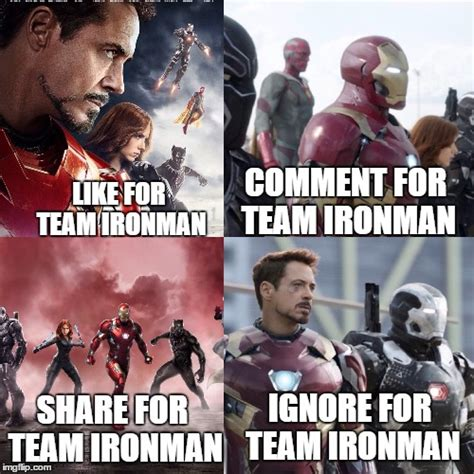 Team Black Guys Meme - image tagged in captain america civil war iron man tony