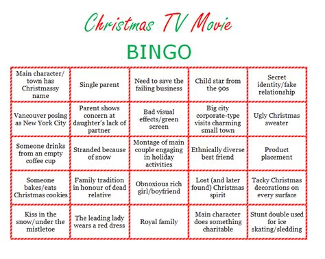 holiday party game ready for christmas are you ready to play christmas tv movie bingo