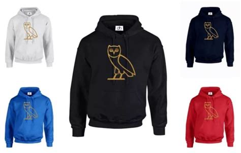 Hoodie Ovo Owl 3 Fightmerch ovoxo ovo owl metallic gold logo hoodie from yobi apparel