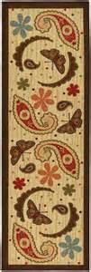 s kitchen beige 22 quot x7 paisley design mat runner rug