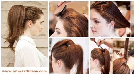 ponytail hairstyles how to do how to elegant high full ponytail hairstyle step by step