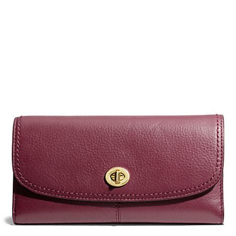 Coach Checkbook Wallet 10 coach f50448 leather checkbook wallet brass bordeaux coach wallets wristlets