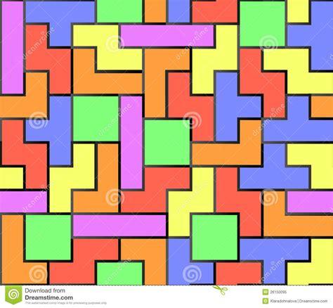printable tetris shapes tetris seamless background stock vector image 26150095