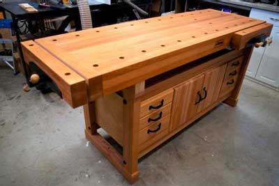 woodwork cabinet makers workbench plans  plans
