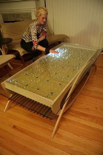 make your own interactive led dining table coffee table
