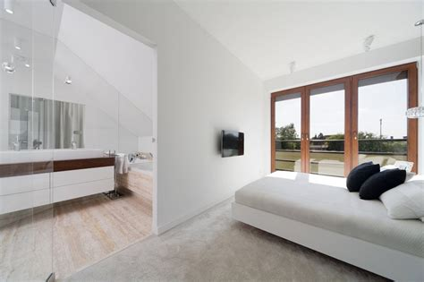 bedroom bathroom combinations minimalist house defined by simple contrasts