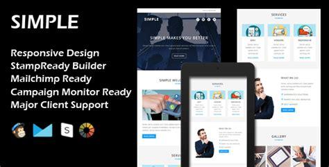 Simple Multipurpose Responsive Email Template St Ready Builder By Evethemes Basic Responsive Email Template