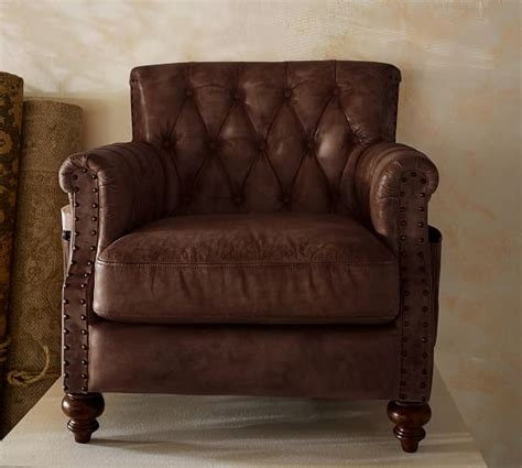 nailhead armchair pottery barn leather sofas armchairs sale save 20 on gorgeous furniture must haves