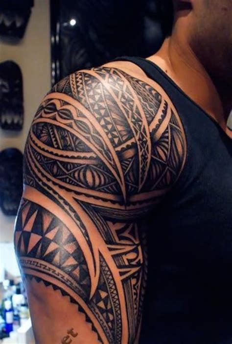 quarter sleeve tribal tattoo 53 amazing shoulder half sleeve tattoos