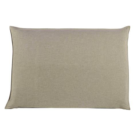 160cm headboard cover in beige soft maisons du monde