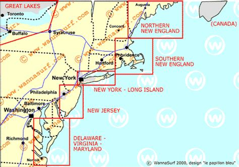 map of northeast coast usa east surfing in east united states of