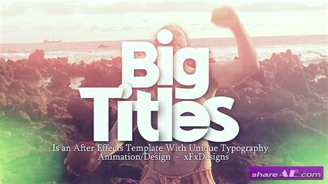free after effects slideshow templates big titles slideshow typography after effects project