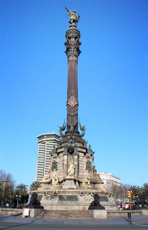 Ft To Meter by Barcelona Spain From Monument A Colom Travel