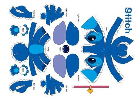 stitches manualidades stitch disney juguetes de papel moldes cajitas de