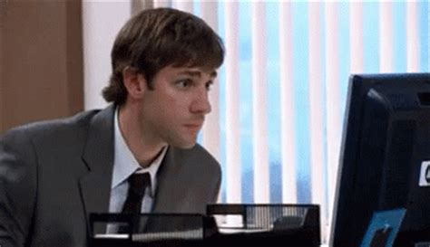 The Office Cameraman by Jim From The Office Shhh No Don T Say That Gif