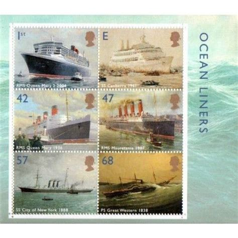 Great Britain Liners 2004 St Set great britain 2004 liners miniature sheet unmounted mint nhm sg22454 st on ebid united