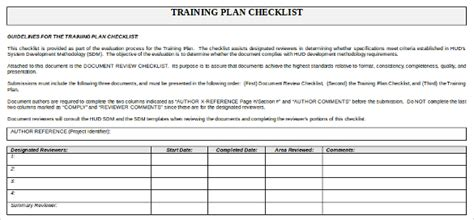 training checklist template 14 free word excel pdf