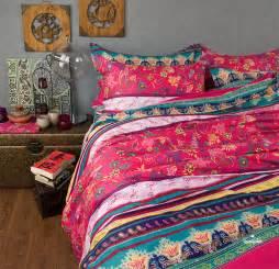 Boho Bedding Sets Modern Boho Style Bedding Set Colorful Rainbow