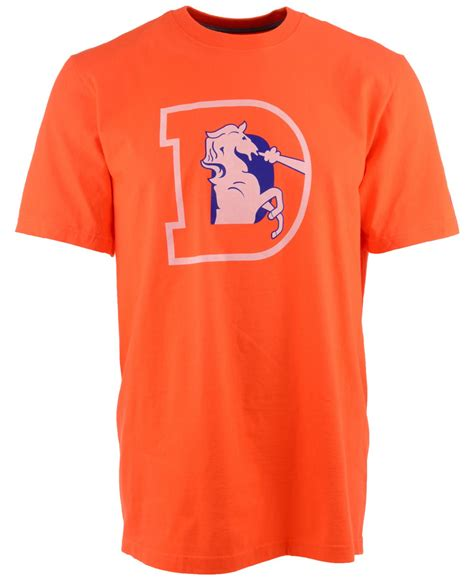 Sweater Logo Nike Keren lyst nike s denver broncos retro logo t shirt in orange for