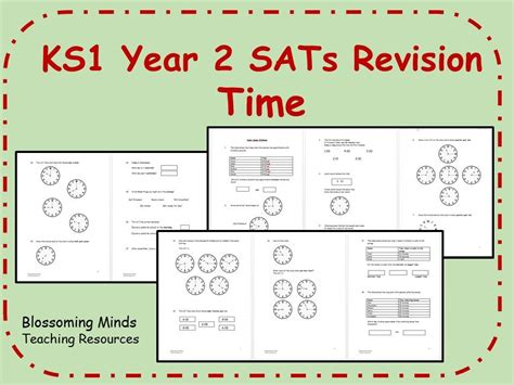 ks1 year 2 maths sats time revision differentiated