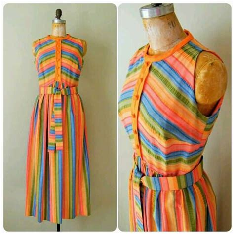 Pocket Maxi Rainbow Dress 64 best vintage summer images on vintage