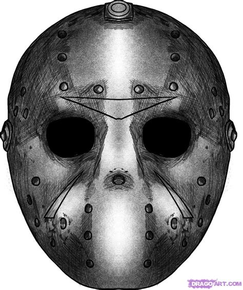 printable jason voorhees mask how to draw jasons mask step by step movies pop culture