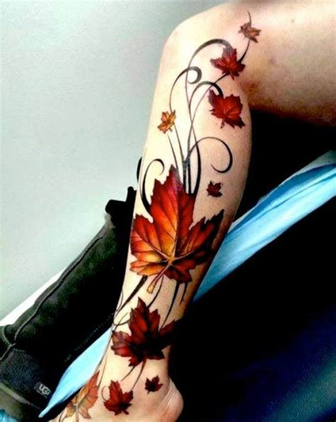 lower leg tattoo tribal leaves ideas tattoo designs